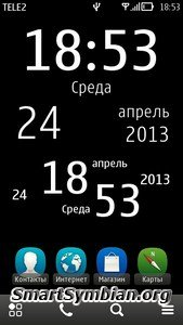 Big Clock widget v1.02